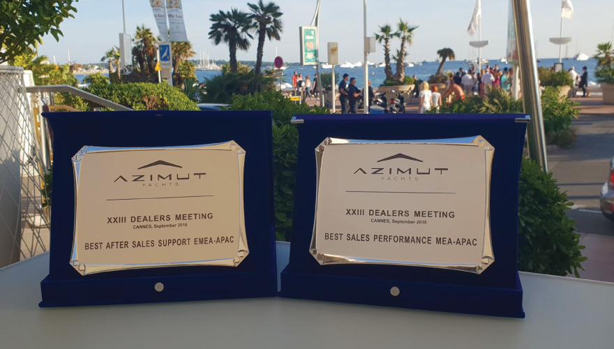 Blue Point Yachting was Awarded twice at this years Azimut Yachts
